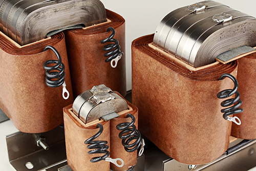 Image of DC load inductors from Osborne's electromagnetic engineering team.